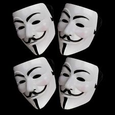 4 x Anonymous Hacker V For Vendetta Guy Fawkes Costume da Halloween Maschera