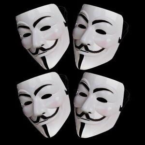 4X Anonymous Hacker V For Vendetta Juegos Maestro Máscara Disfraz de Halloween