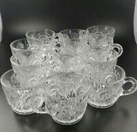 VINTAGE Cut Glass Pinwheel & Stars, Set of 12 Punch Cups
