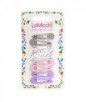 Baby Girls Hair Clips 8 Pack Hair Slides Snaps Grips Sleepies Pink Grey 4 cm