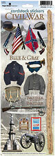 Paper House CIVIL WAR Cardstock Stickers scrapbooking BLUE & GRAY