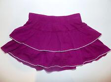Gymboree Tiered Scooter Skirt sz 3T purple & white skort NEW