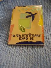 Pin Stuttgart IGA 1993 Internationale Gartenbauausstellung Exppo Infostand 1992