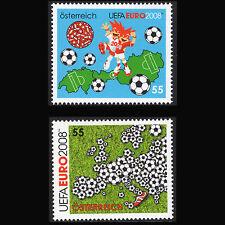 Austria 2008 - Uefa Euro 2008 European Football Championship - Sc 2135/6 Mnh