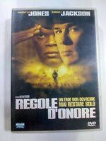 DVD REGOLE D'ONORE 2001 Thriller Tommy Lee Jones Samuel L. Jackson DVD