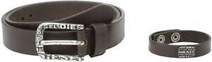 Diesel Mens Bronti Bracelet And Belt Pack 00S916 Belt Brown 105 CM