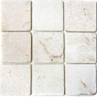 Naturstein Wand Boden Fliese weiß Colonial white Limestone Marmor|F-45-49010