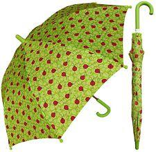 "32"" Children Kid Ladybug Green Umbrella - RainStoppers Rain/Sun UV"