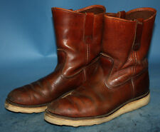 MENS VTG IRISH SETTER RED WING BROWN LEATHER CREPE RANCH/BIKER/WORK BOOTS sz 8 C