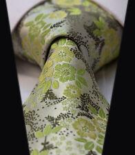 LUSSO Cravatta da uomo verde lime muschio - MATRIMONIO VENDITA- ARGENTO SATINATO
