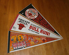 (3) 1992-95-96 Chicago Bulls NBA Champs pennants lot Michael Jordan Era 70 Wins