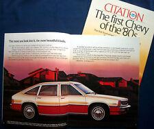 Prospectus Brochure 1980 CHEVROLET CHEVY Citation (États-Unis)