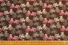 100% coton imprimé tissu-paris bicyclettes