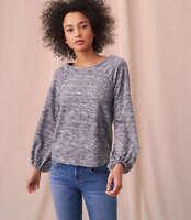 NWT Ann Taylor LOFT Lou Grey Marled Blouson top various sizes gray