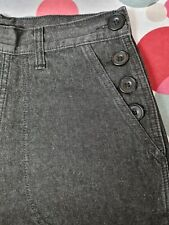 Freddies of Pinewood Ladies Black 1940s Button Jeans, 32R 28R 26L 26R 24L 24R
