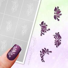pochoirs adhésifs pour aérographe SET56 Nail art Floral Ornement Fioritures