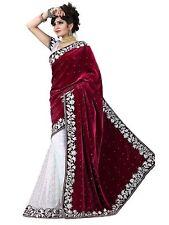 New Pakistani Bridal Indian Bollywood Designer Weeding PartyWear Saree/Sari A..