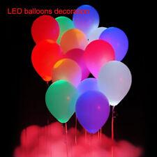 Bulk 48Pcs LED Balloons 23cm/9'' Light Up Party Wedding Birthday Decoration