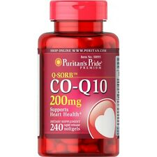 Puritans Pride Q-sorb Co-q10 200mg X240 Softgels Heart & Cardiovascular Health