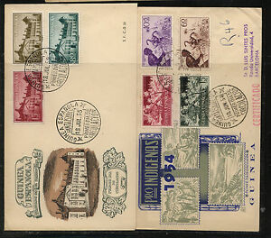 Spanish  Guinea   2 nice  cachet covers  1954, 1955           KL0119