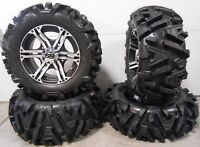 "ITP SS212 14"" Wheels Machined 26"" Moto MTC Tires Can-Am Renegade Outlander"
