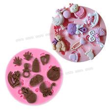 2pcs Molde De Silicona Forma de Bebé Para Pastel Fondant Chocolate Decoración