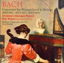 J S Bach Concertos For Harpsichord & Strings Bolton SJBP New Regis CD Ponsford