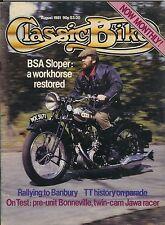 Classic Bike 81-08 BSA sloper Triumph Bonneville, Jawa racer Douglas Bill Lomas