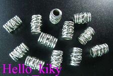 100 pcs Tibetan silver screw barrel spacer beads A420