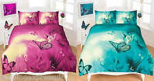 Butterfly Duvet Cover Set Printed 3D Animal Quilt Single Double Super King Size