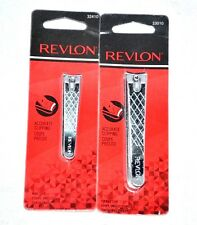New Revlon 1 Toenail Clip 33010 + 1 Nail Clip 32410 Accurate Clipping With File