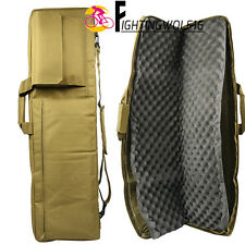 "39"" Tactical Weapon Case 1M Padded Carbine Rifle Gun Bag For Airsoft Hunting CS"