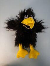 Vintage Black Crow Plush Hand Puppet