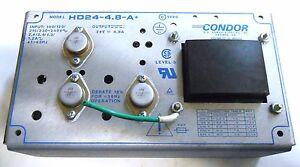 CONDOR POWER SUPPLY, HD24-4.8-A+, INPUT 100/120, 47-63HZ, OUTPUT 24V @ 4.8A