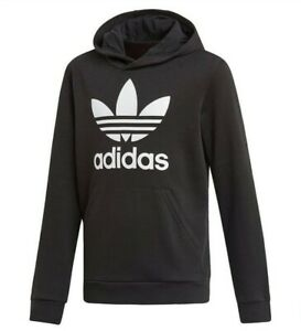 Adidas Originals Trefoil Black Hoodie Kids Size 13-14 years