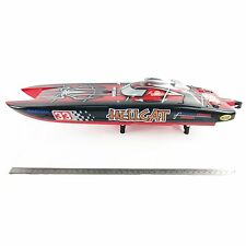 G30E ARTR FiberGlass Gas 30CC Engine RC Racing Boat Catamaran Pull Start Spider