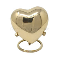 Classic Gold Coloured Heart Keepsake Urn Small Memorial Urns Good