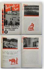 Prospekt Reisebroschüre Urlaub auf See 1930 Spanien Portugal Madeira Italien xy