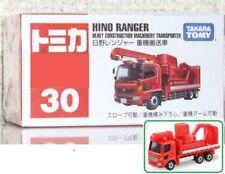 Tomica #30 HINO RANGER HEAVY CONSTRUCTION MACHINERY TRANSPORTER @
