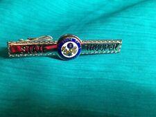 Vintage Arkansas State police  & Police Tie Bar Clip Silver Tone