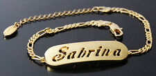 SABRINA - Bracelet With Name - 18ct Yellow Gold Plated - Gifts For Her - Fashion
