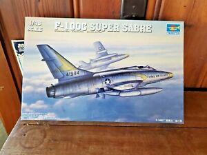 TRUMPETER 1:48 F-100C SUPER SABRE MODEL AIRPLANE KIT  (OPEN BOX)