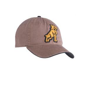 Mack Trucks Brown Cap w/Embroidered Gold Bulldog Logo Patch Hat