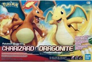 Charizard & Dragonite Model Kit Bandai Pokemon Plamo #43 Figure Hobby US Box