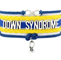 DOWN SYNDROME disability awareness charm BRACELET gift bangle new jewellery AB18