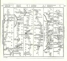 Antique map, The Road from St Davids to Holywell