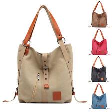 Damen Handtasche Schultertasche Rucksack Segeltuch Umhängetasche Groß Shopper