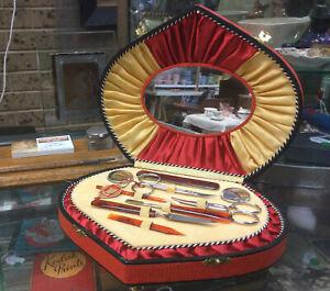 Beautiful Vintage Music Box Manicure Set Music Not Working Mildura