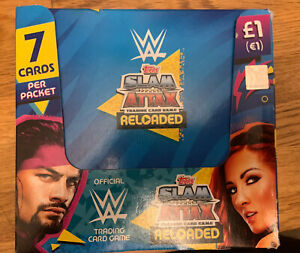Topps WWE SLAM ATTAX RELOADED FULL BOX 36 SEALED PACKET(7 CARDS PER PACKET)