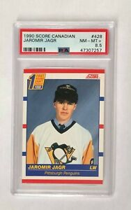 1990 Score Canadian Jaromir Jagr RC PSA 8.5, card #428 Penguins HOF